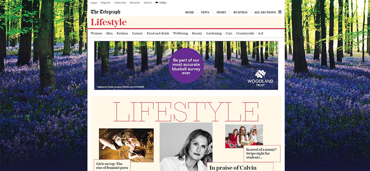Woodland Trust recently ran an contextually relevant online advertisement.