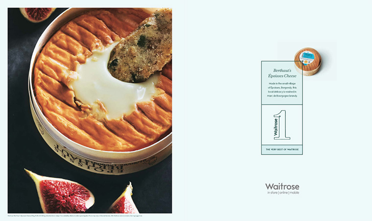 Waitrose's print advertisements leave readers wanting more.