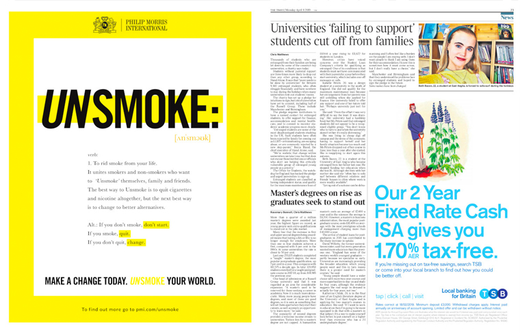 Philip Morris is urging people to rid their lives of smoke.