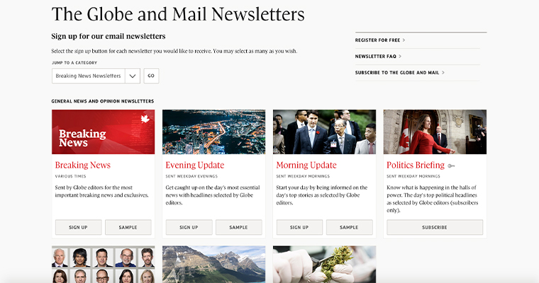 Newsletters allow readers to get tailored content and encourage increased engagement.