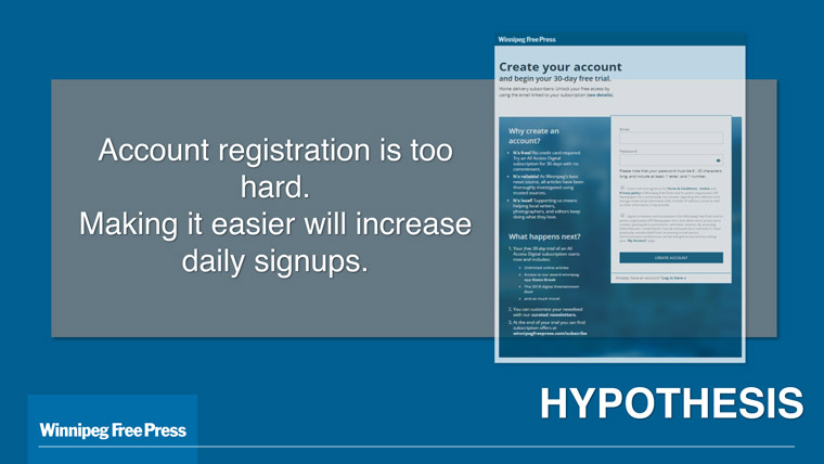 When the registration process is too onerous, users don't register.