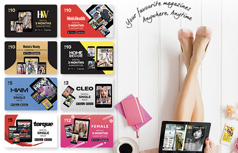 SPH Magazines has created pocket-sized subscription cards, allowing readers to access their favourite magazines where and when they want them.