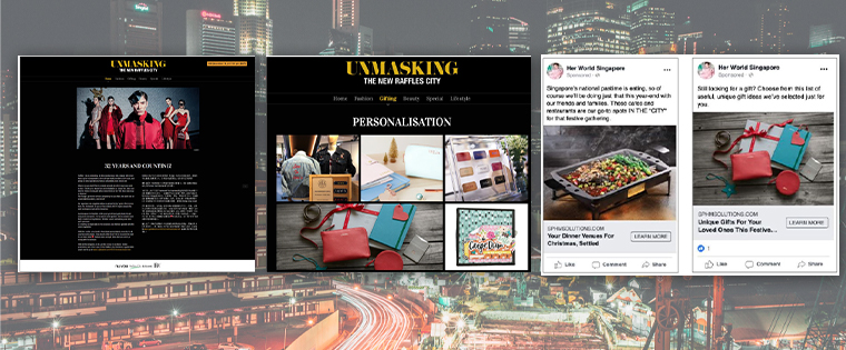 The microsite launched by SPH Magazines for Raffles City received 66% impressions above the set target.