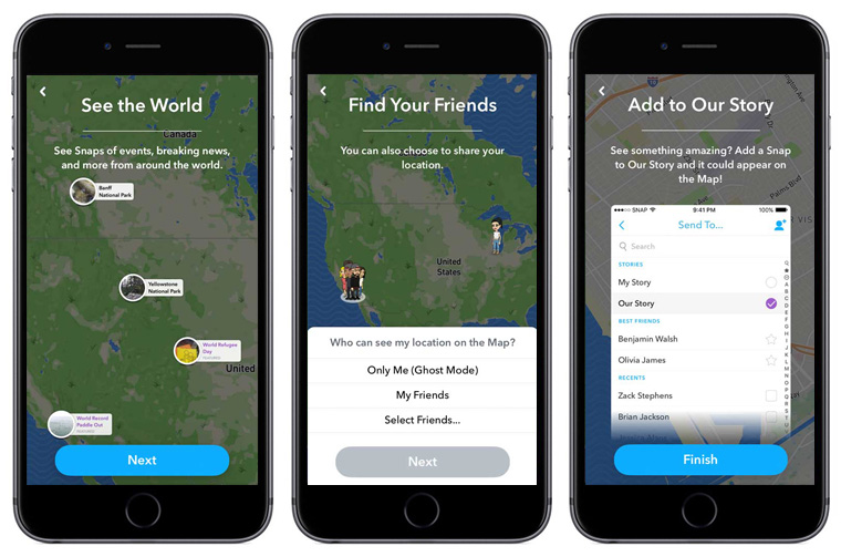 Social media map features offer a different way to find real-time updates.