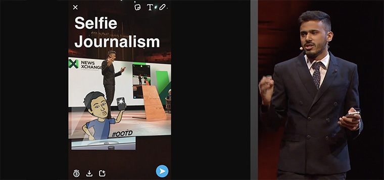 Selfie journalism is digging deep into the personal side of typical news stories.