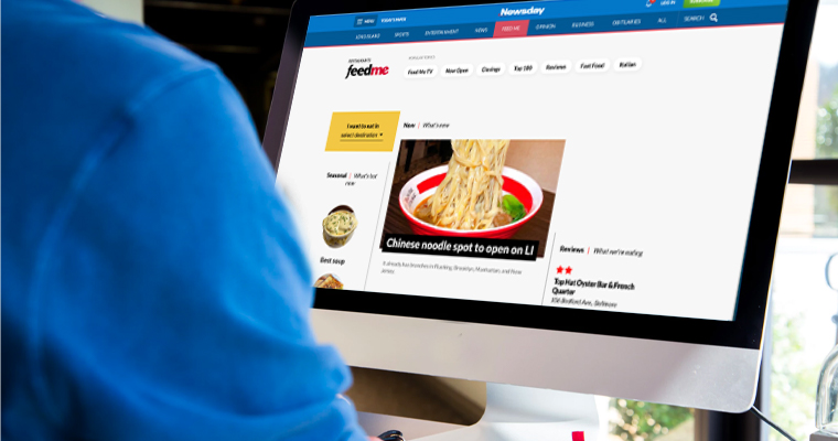 Newsday incorporated user testing to refine its approach in marketing its digital restaurants product, FeedMe.