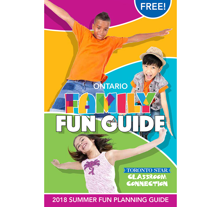 Capitalising on its success from the 2017 publication, The Toronto Star published the family fun guide for a second year.