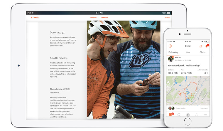 Strava maintains a subscription paywall whereas Snap relies on advertising dollars.