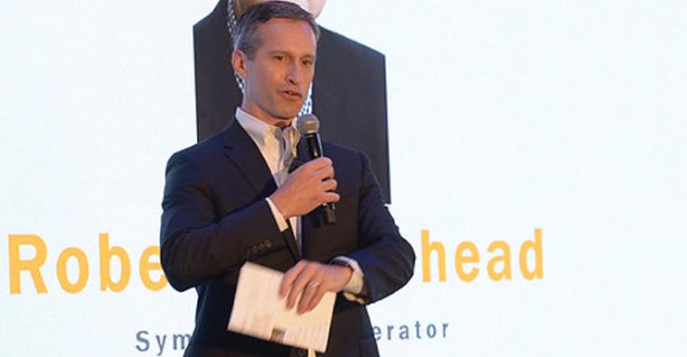Matt Lindsay, president of Mather Economics, at the Reader Revenue Symposium in Hamburg last week.