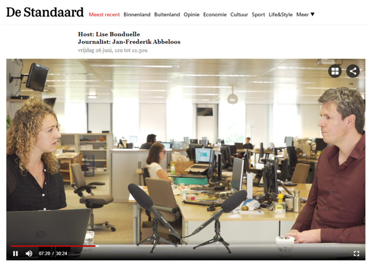 De Standaard launched its first set of Webinars in June.