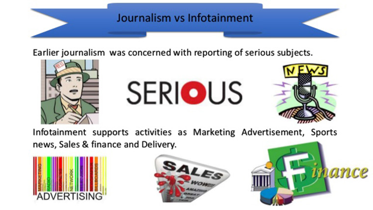 Journalism has largely turned toward infotainment.