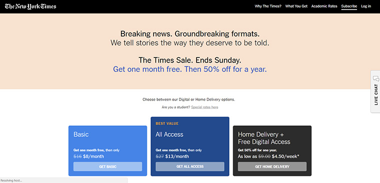 The New York Times is enticing subscribers with discounts.