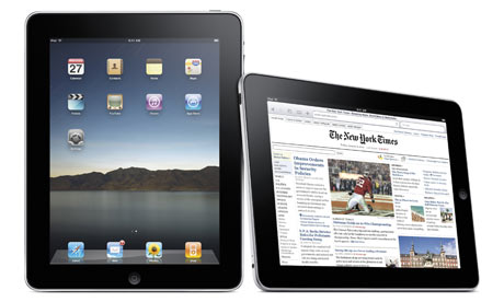 New York Times displayed on new Apple iPad