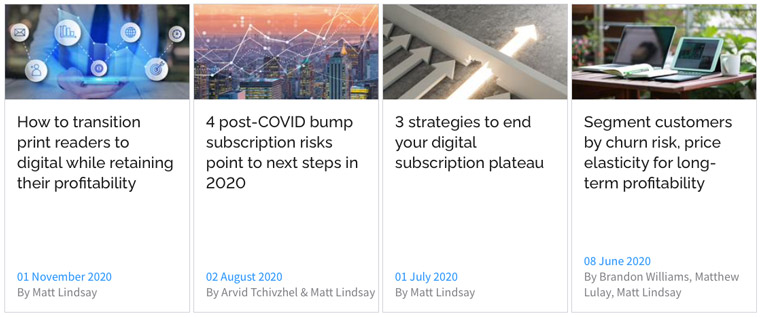 Digital subscription and churn-related trends were impacted by COVID-19.