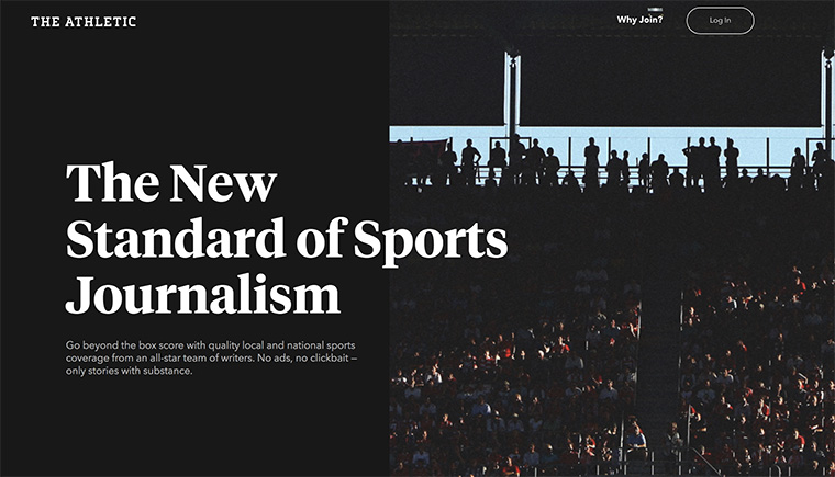 Sports sections should focus on the user experience, an area in which The Athletic excels.