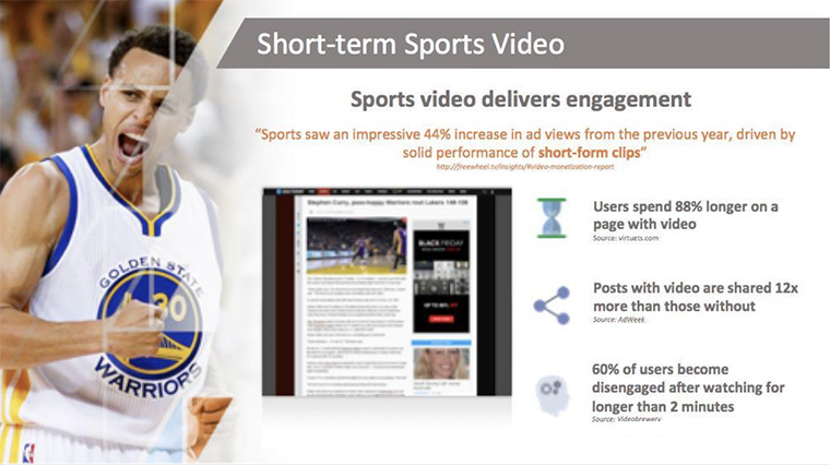 Video content holds viewer attention much longer than Web pages packed with other content.