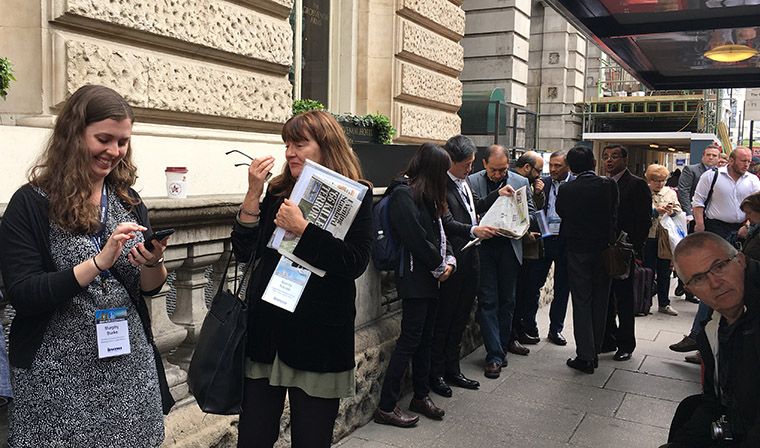 More than 30 media executives toured London's most-innovative news media companies for two days this week.