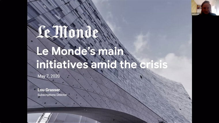 From late March to the start of May, Le Monde has almost doubled its digital subscriber base.