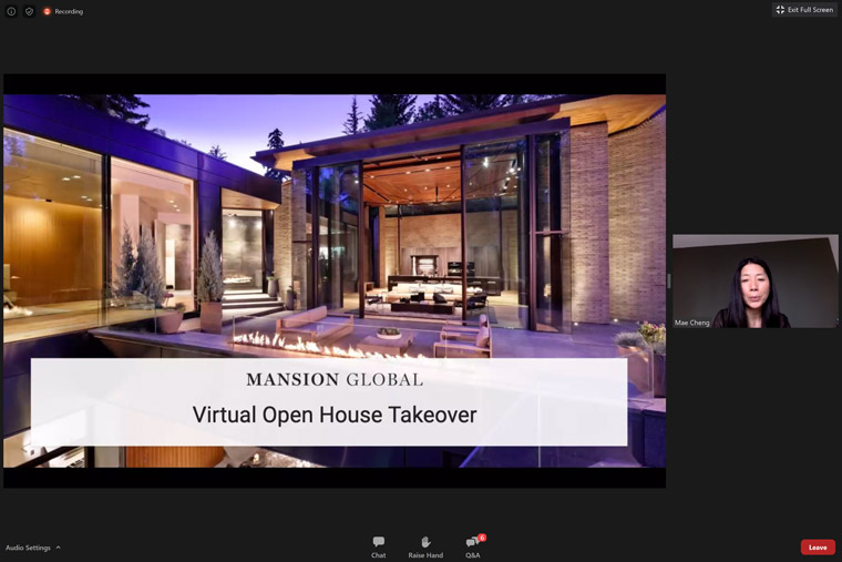 Virtual home tours are one of Mansion Global's content-to-commerce offerings.