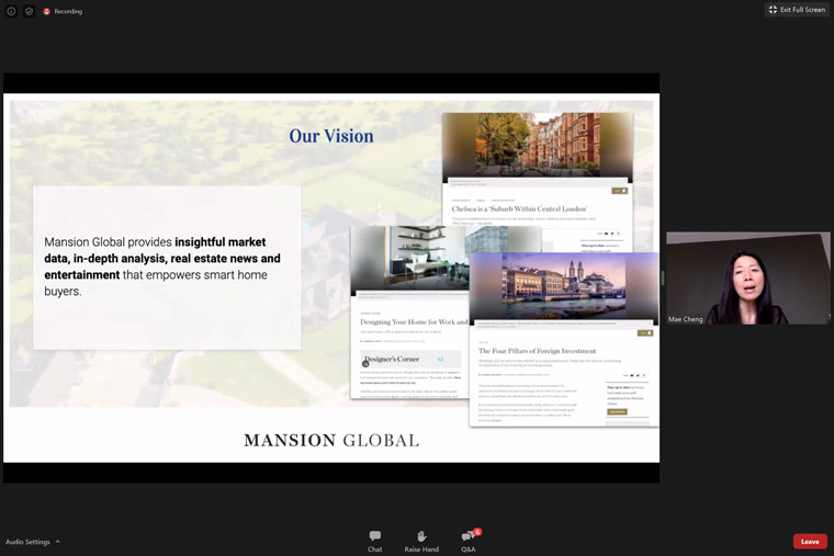 News Corp owns Mansion Global but doesn't connect its brand overtly to the content-to-commerce platform.