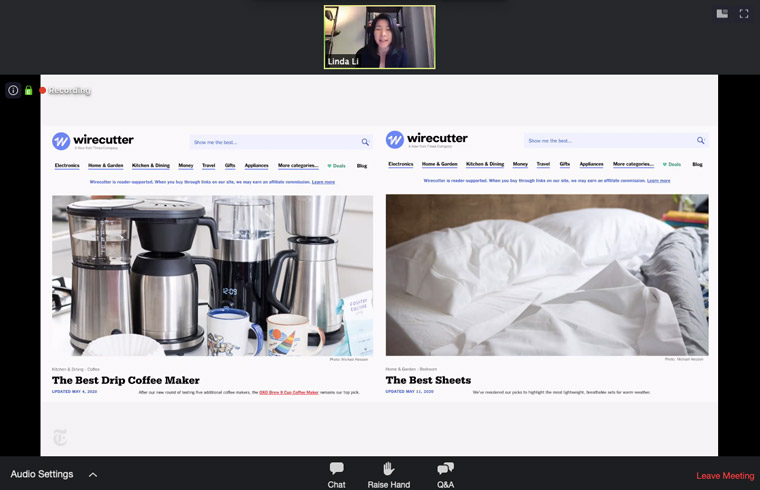 Wirecutter offers detailed guides to product categories like coffee makers, sheets, and air filters.