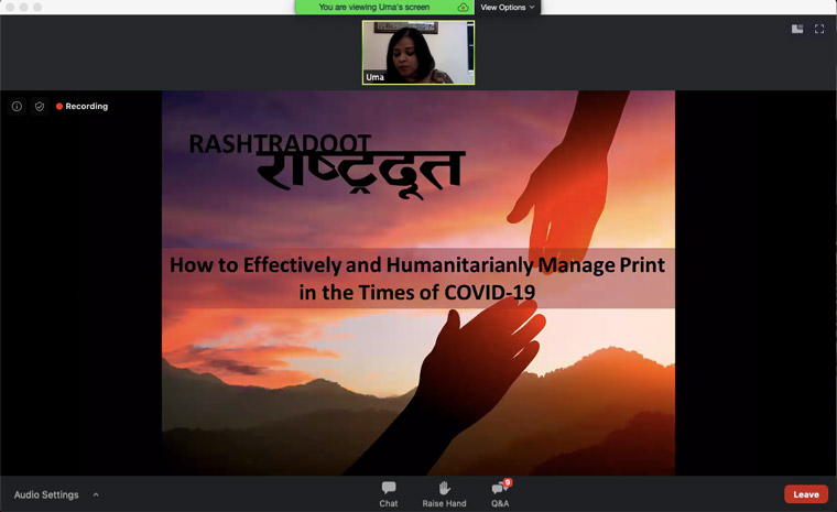 "Rashtradoot worked to care for its employees, local readers, and advertisers with its ""Stand Tall with Rashtradoot"" initiative."