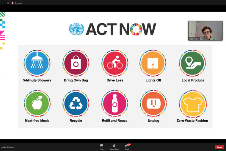 Ringier Axel Springer supports the Untied Nations' 17 sustainable development goals through the world organisation's Act Now initiative.