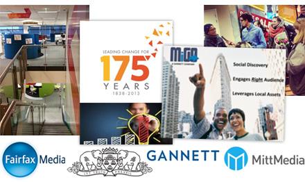 Logos for companies, Fairfax Media, Gannett, MittMedia, the Global International Awards.