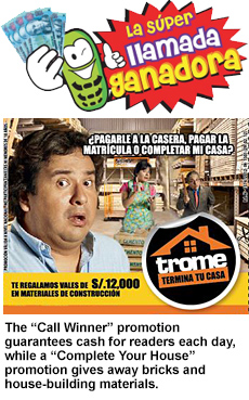 Cover of a Trome publication advertisement in Spanish.