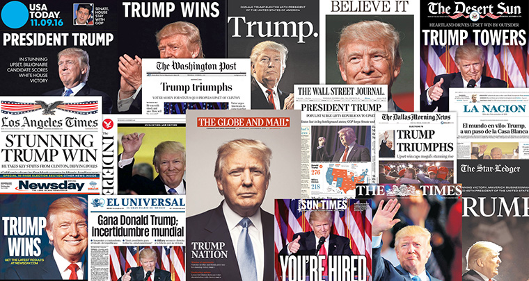 Media across the United States announce the unexpected election of Donald Trump. What does this say about the future of the news media industry?