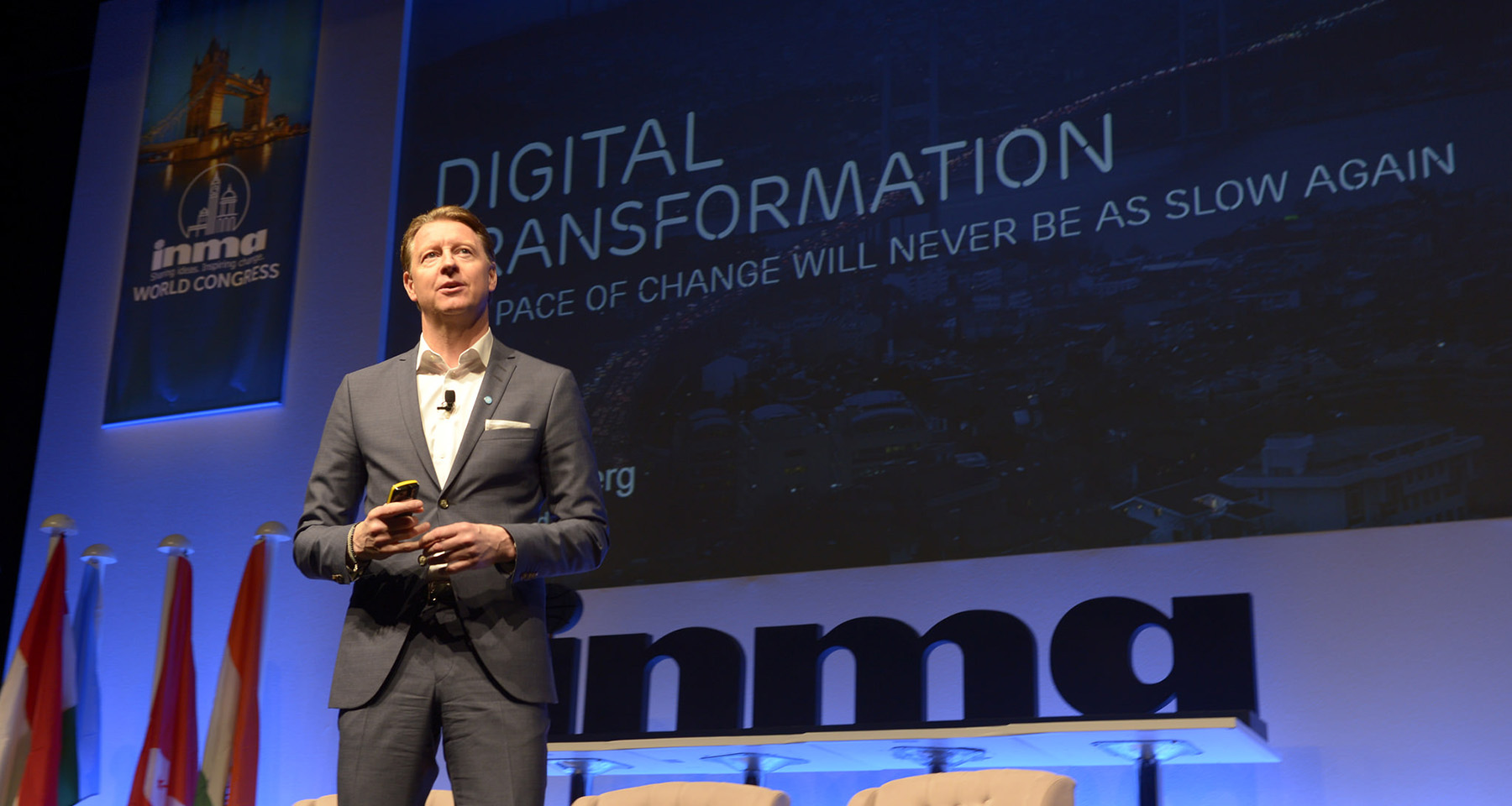 Ericsson CEO speaks to news media mobile strategy in a world of 5G