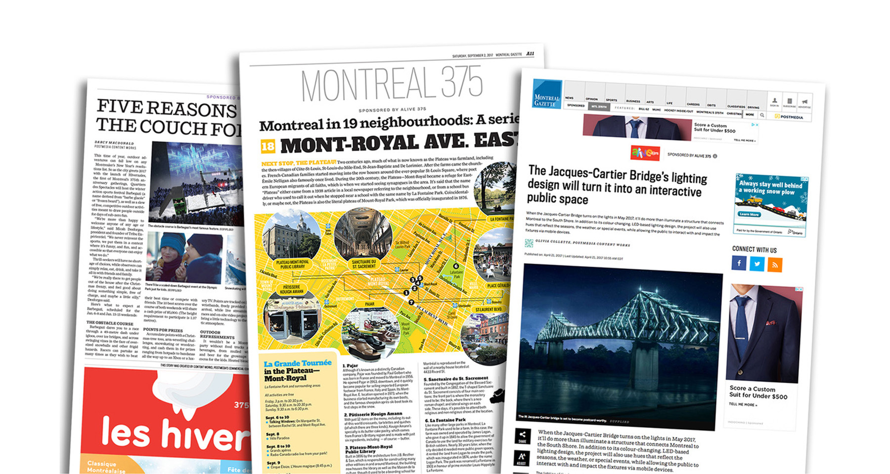 Montreal Gazette maps its way to city's successful 375th anniversary campaign