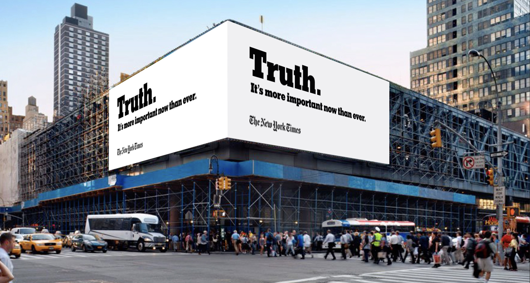 "New York Times ""Truth Is Hard"" campaign touts journalism, fights claims of fake news"