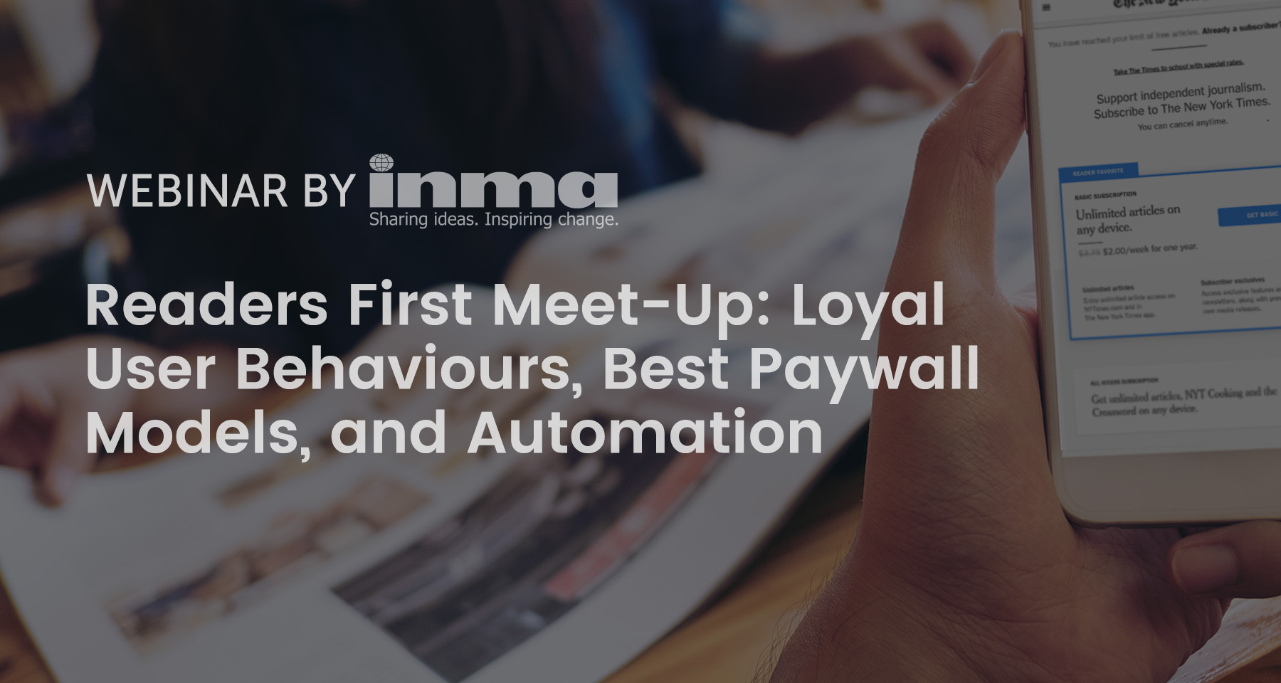 Upcoming Readers First Meet-Up: Loyal user behaviours, best paywall models, automation