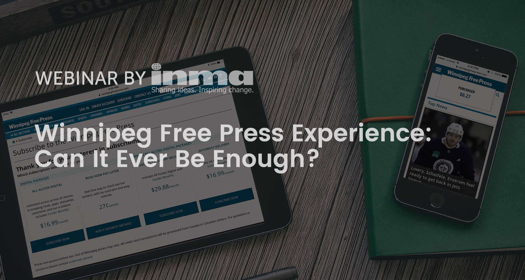 Upcoming INMA Webinar: Winnipeg Free Press shares its micropayment experiment