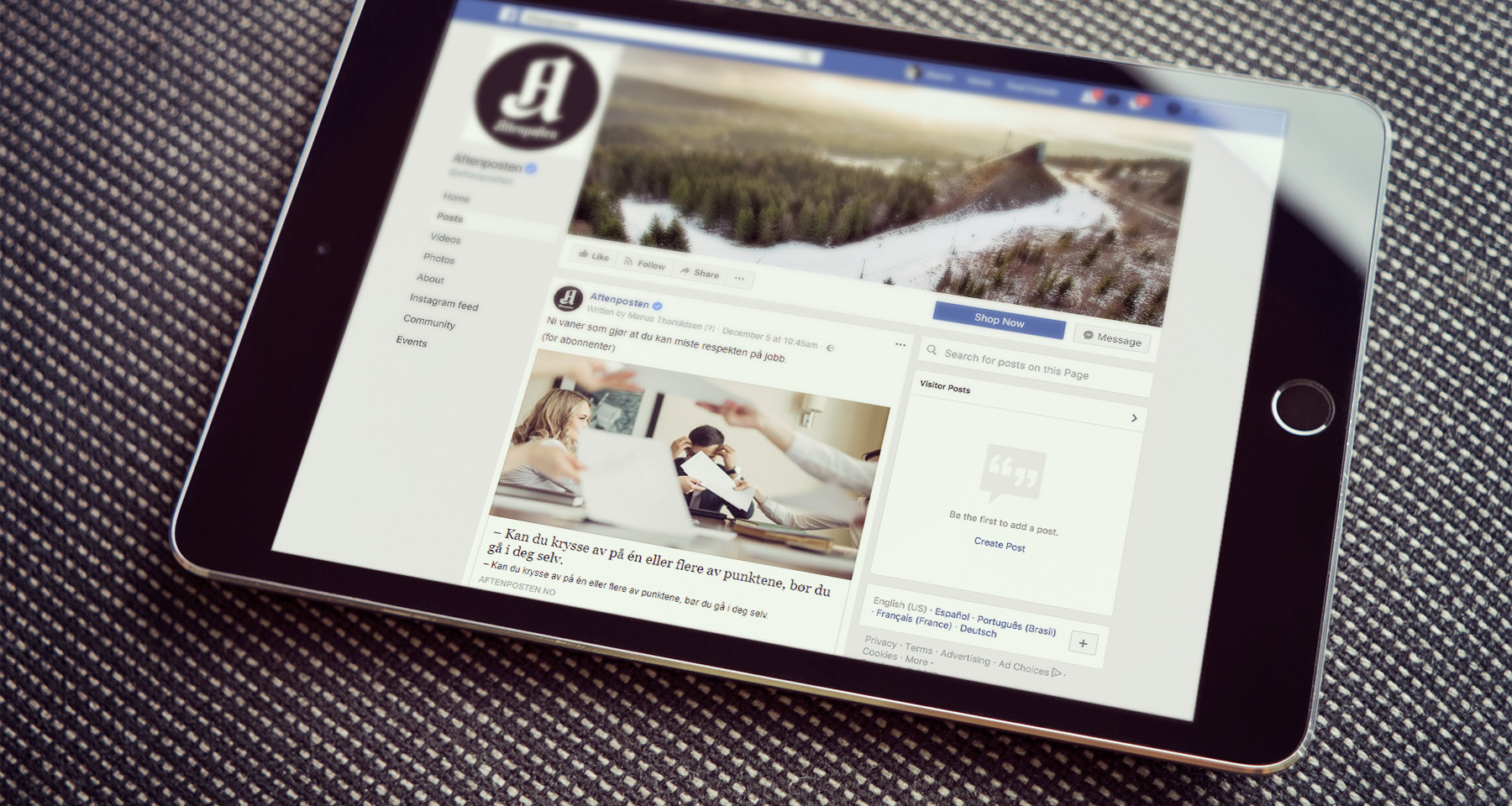 Aftenposten stopped chasing Facebook reach, brought in US$500,000 extra annually