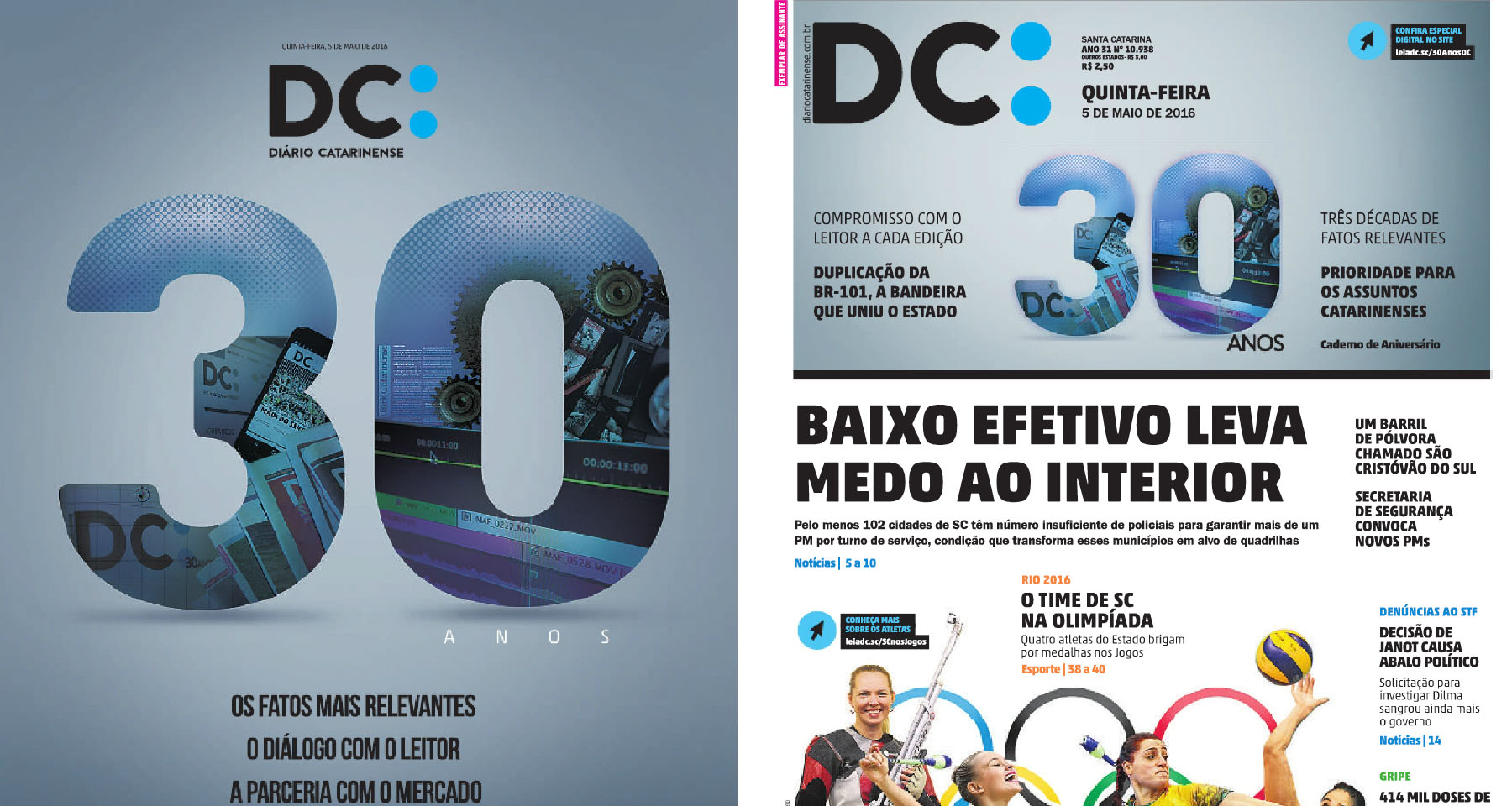 Diário Catarinense celebrates 30 years with research-based re-branding