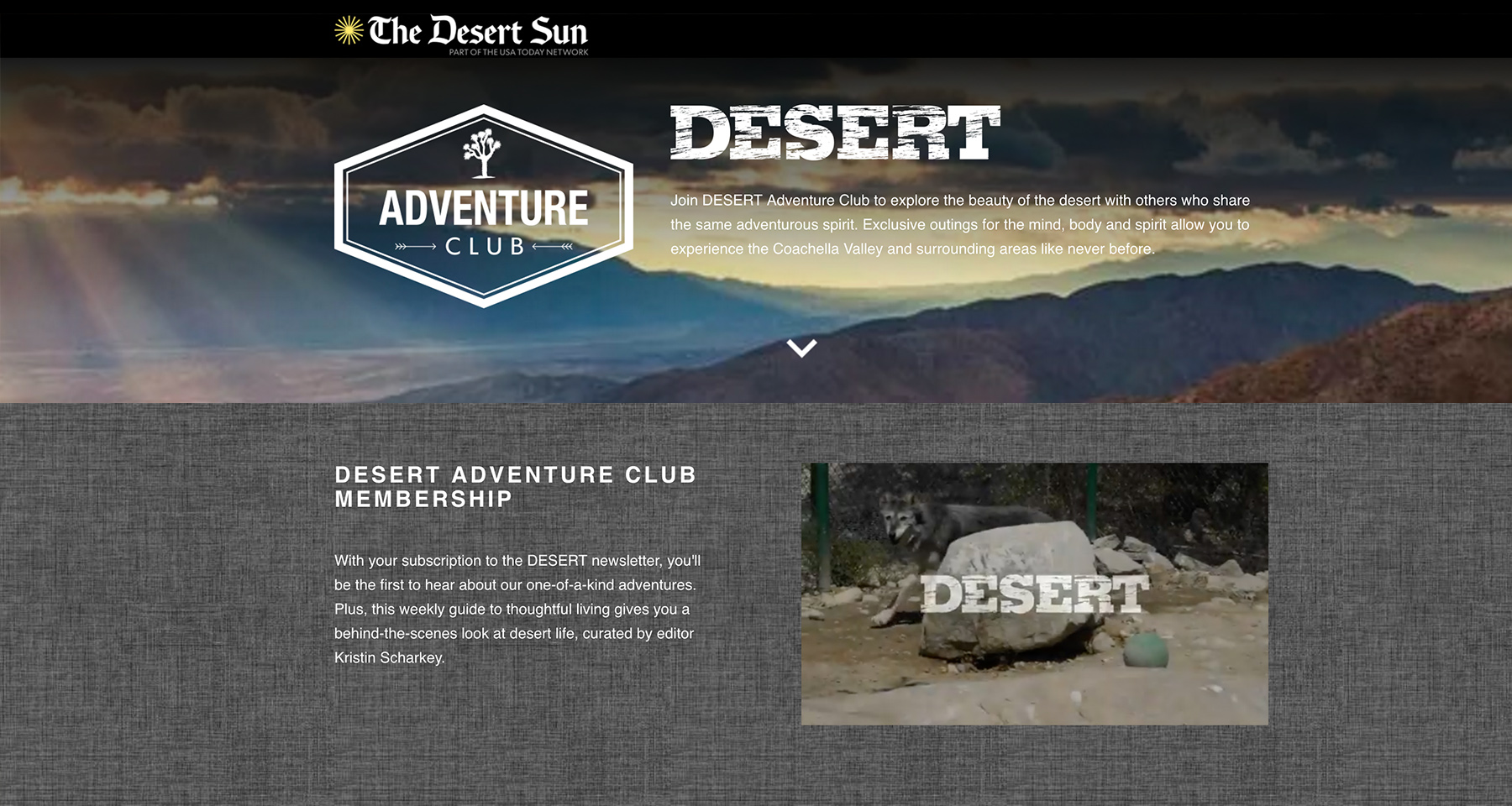 Desert magazine engages adventurers with membership programme