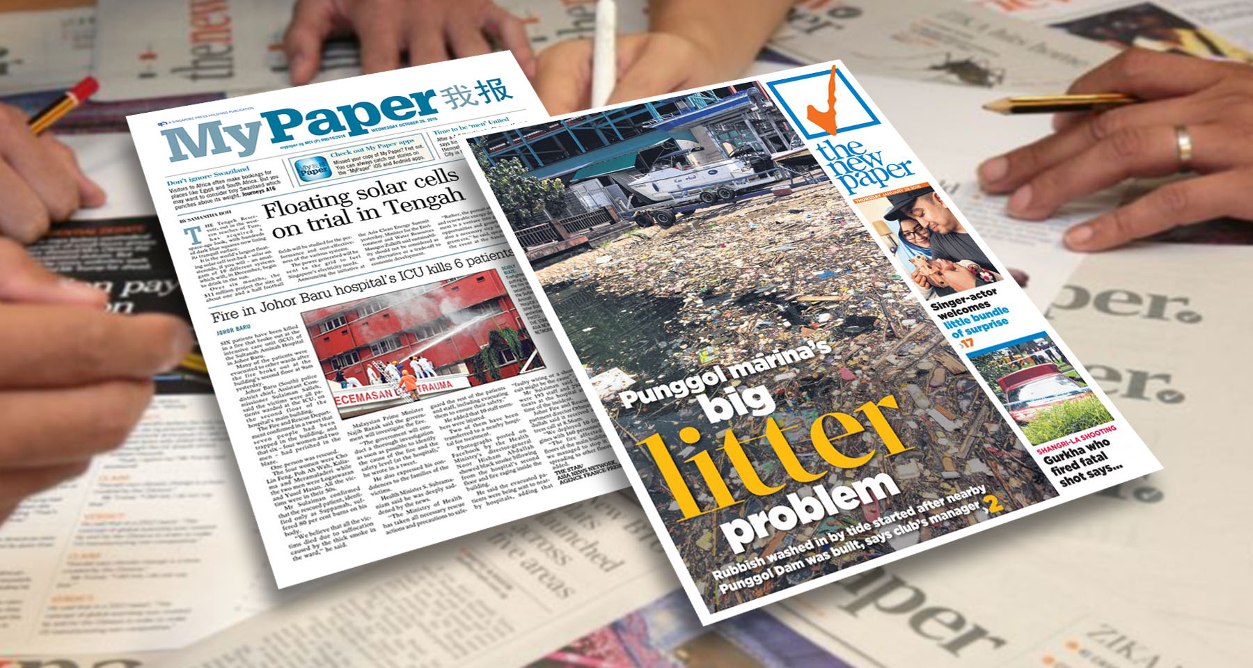 In Singapore, free tabloid newspapers spark digital battle