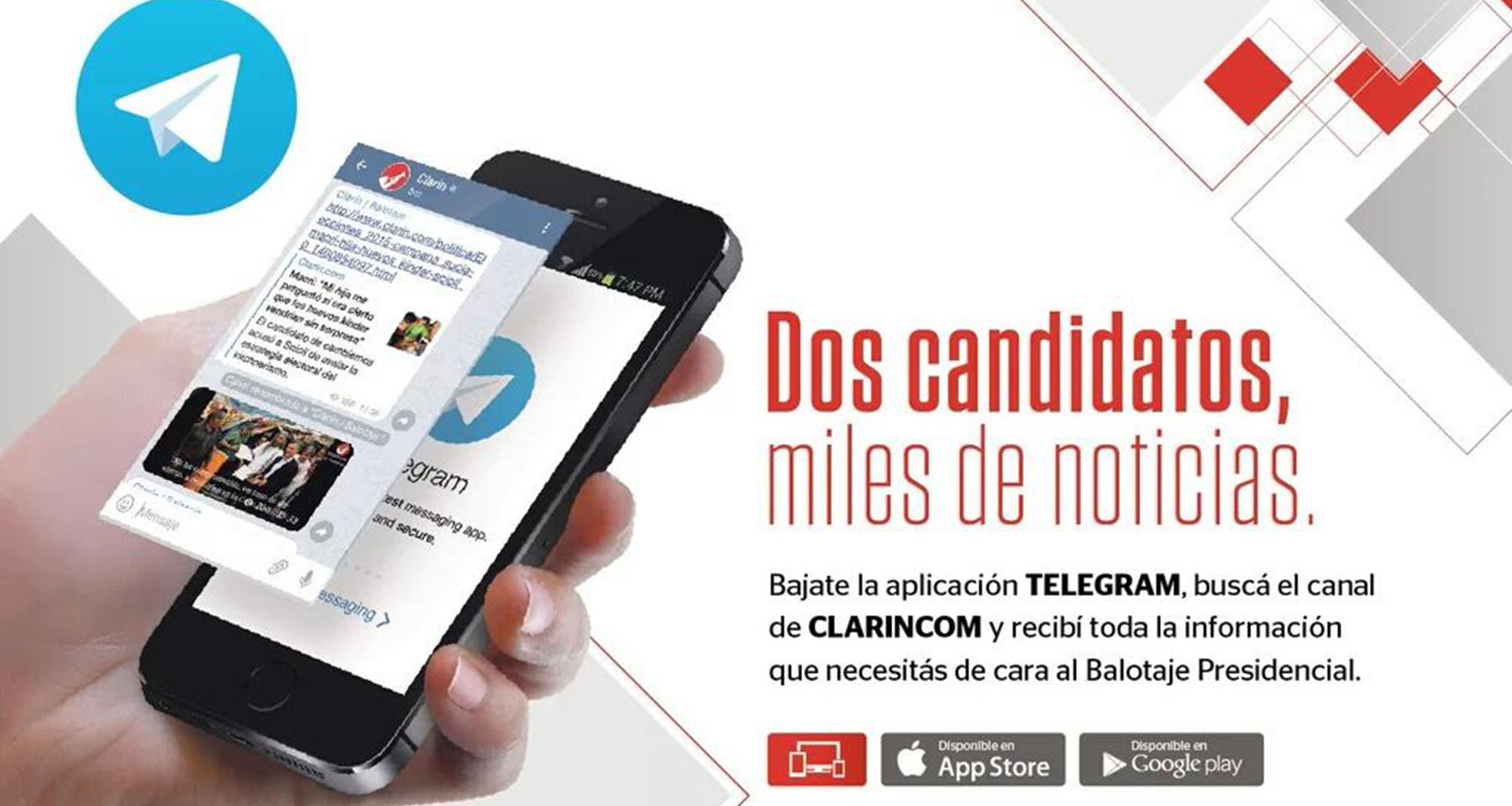 Clarín follows mobile audience, uses messaging platform during election
