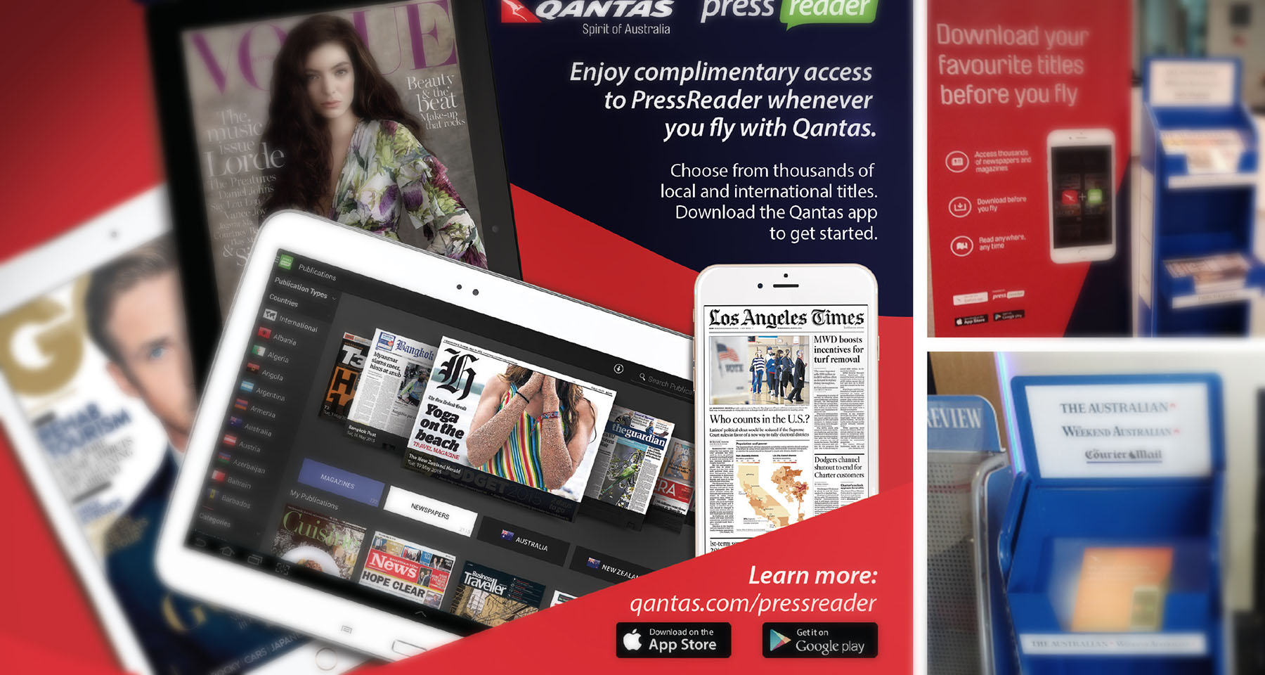 Qantas Airways gives passengers exclusive digital content access