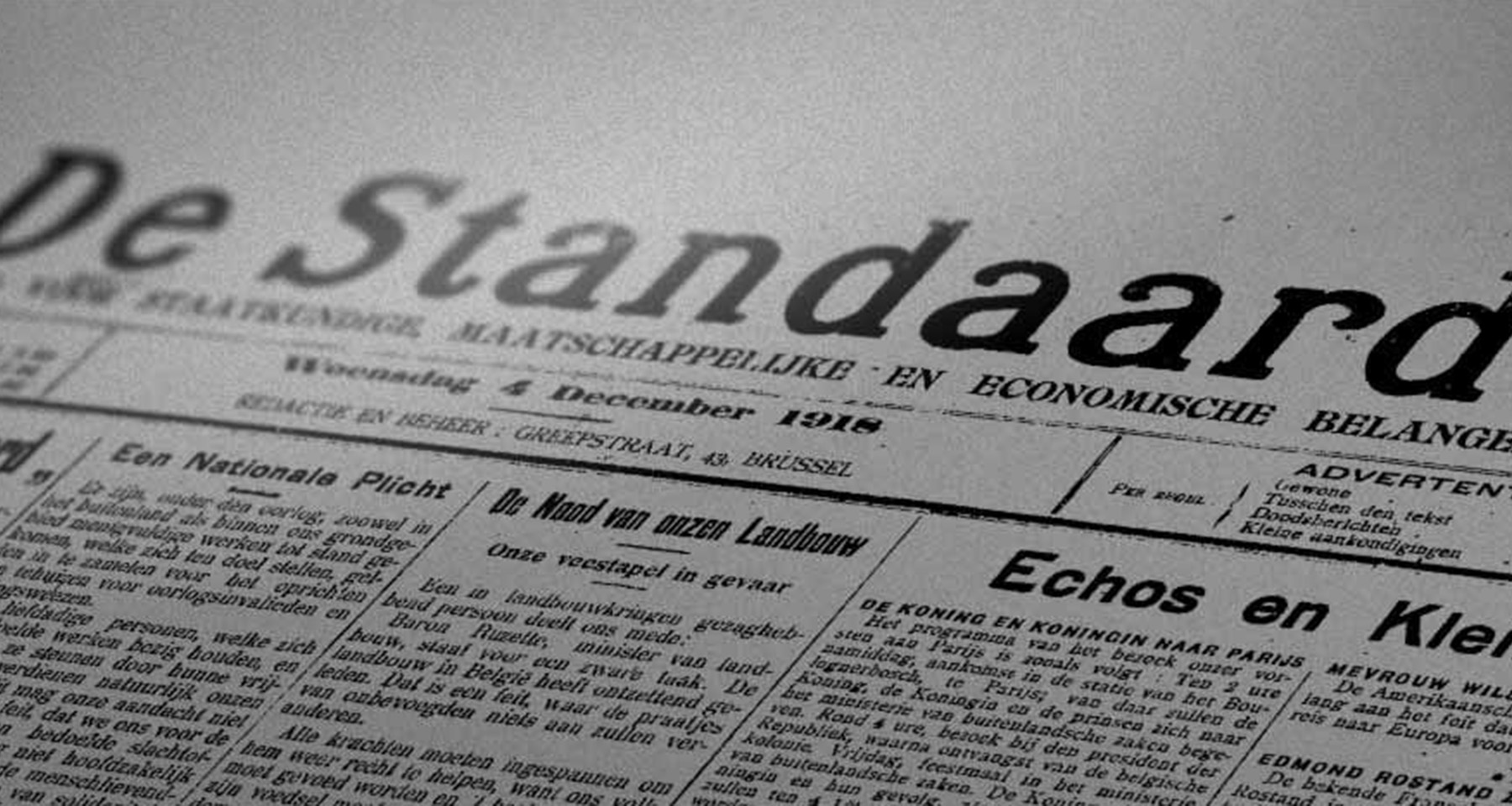 De Standaard celebrates 100th anniversary with engaging archive dive
