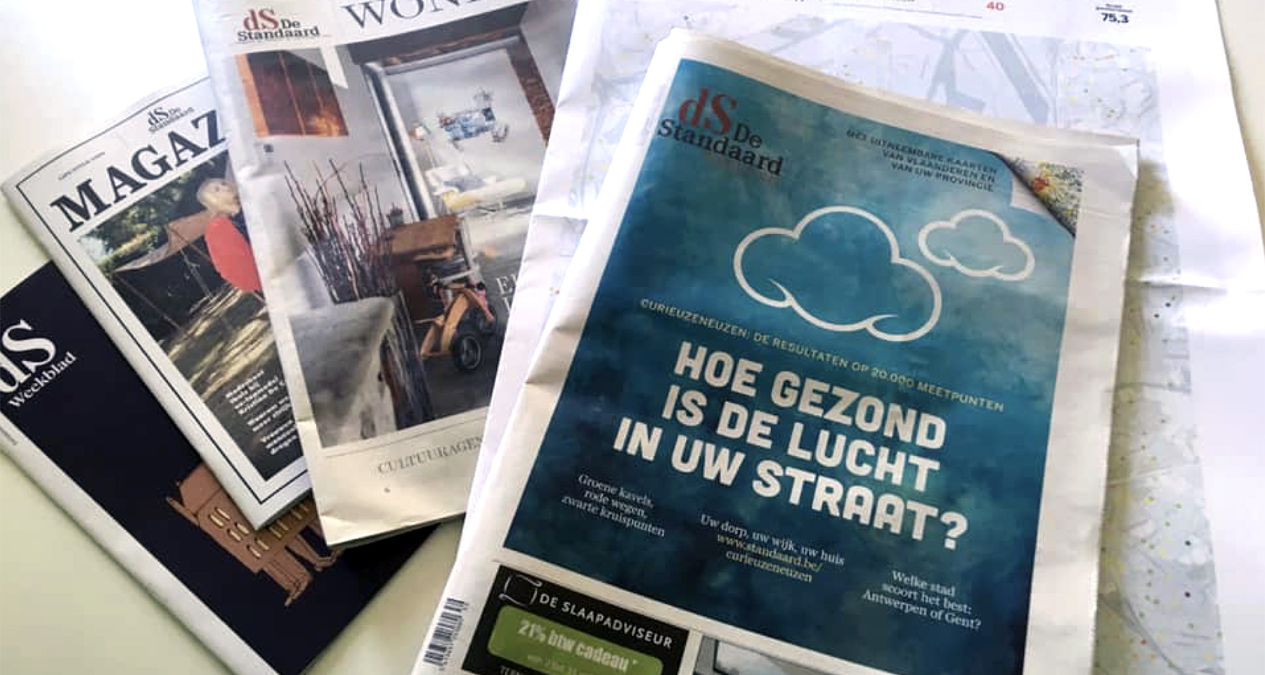 De Standaard gets attention, subscriptions with citizen air pollution project