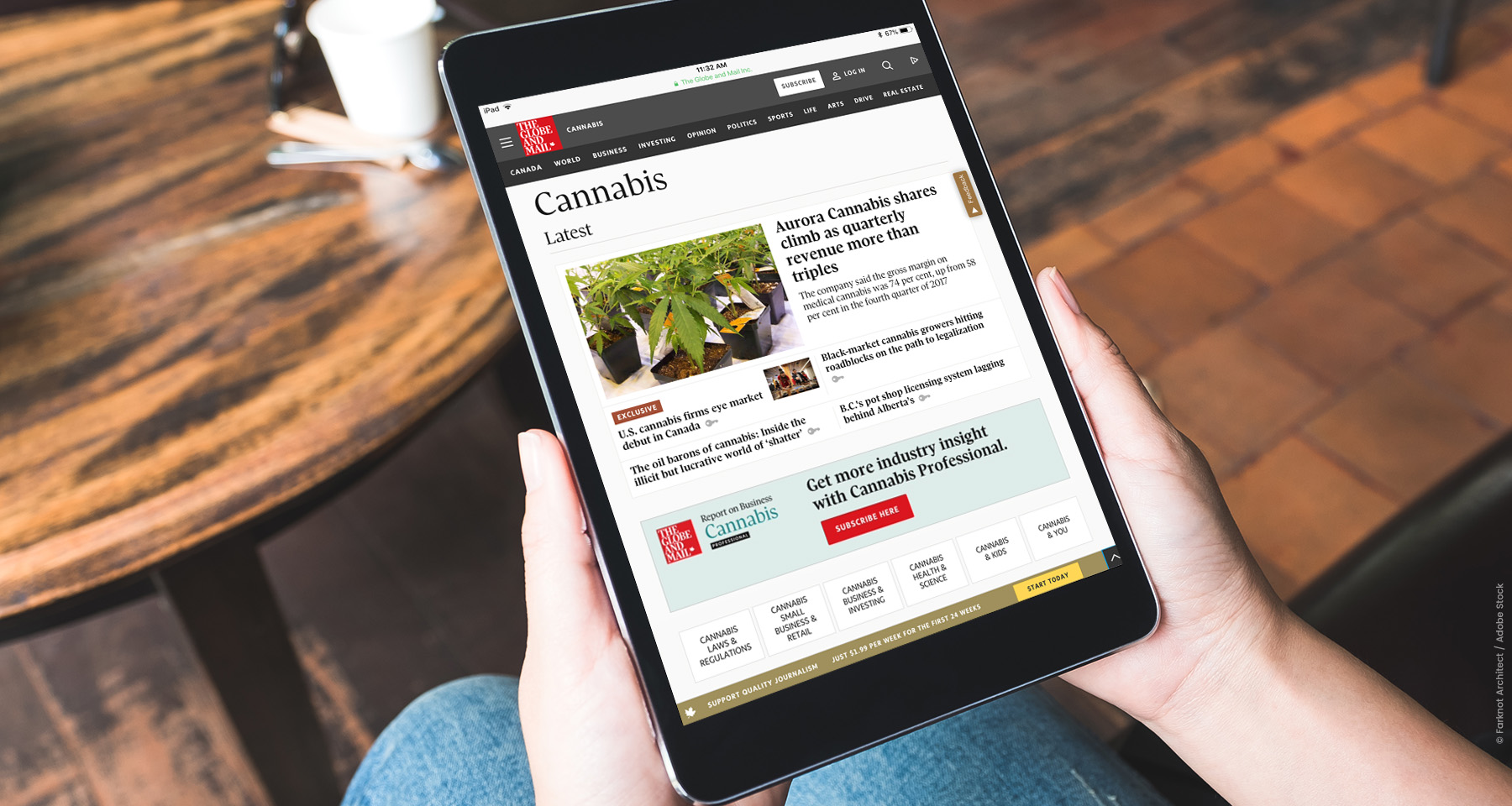 Globe and Mail launches news service for cannabis industry