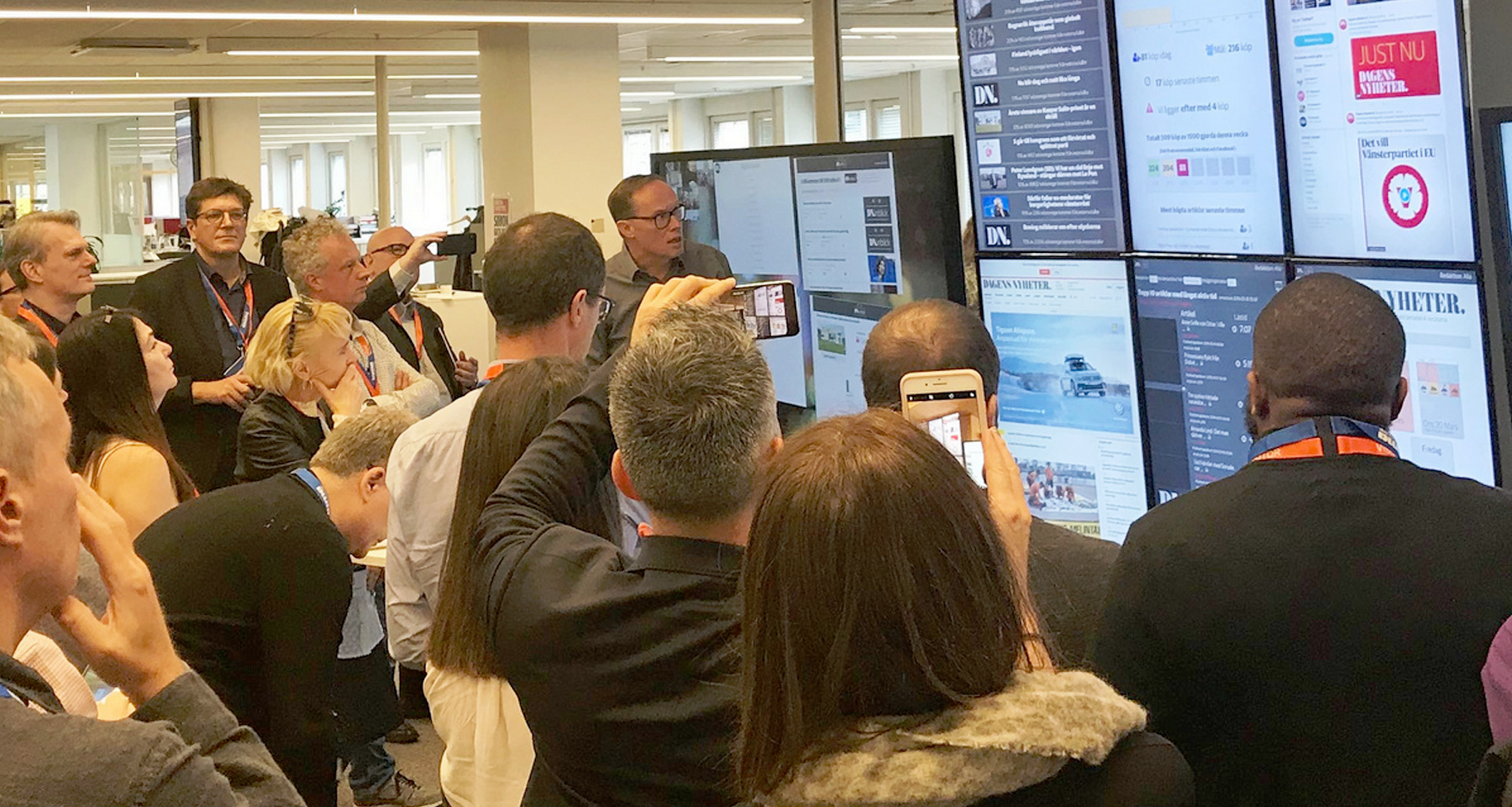 INMA Stockholm study tour gets first-hand look at data in newsrooms