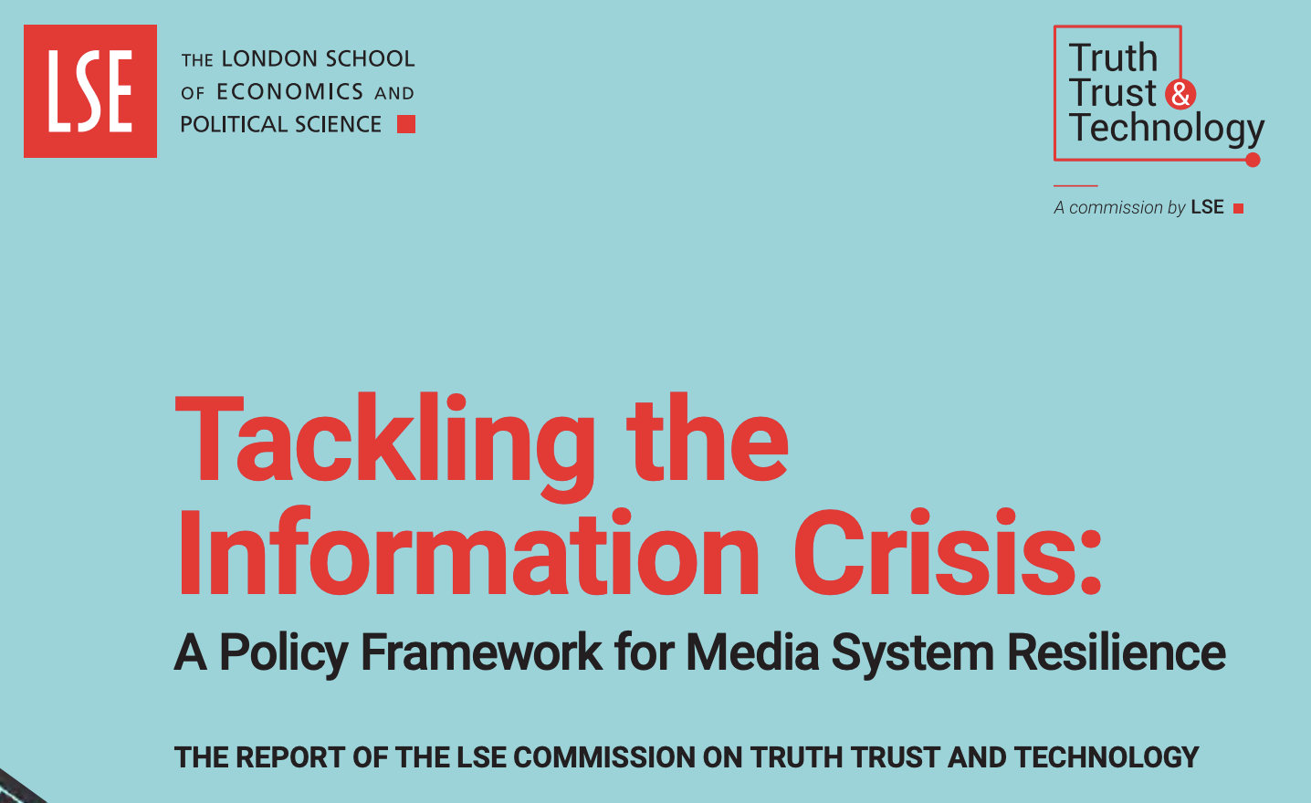 Tackling the Information Crisis: A Policy Framework for Media System Resilience