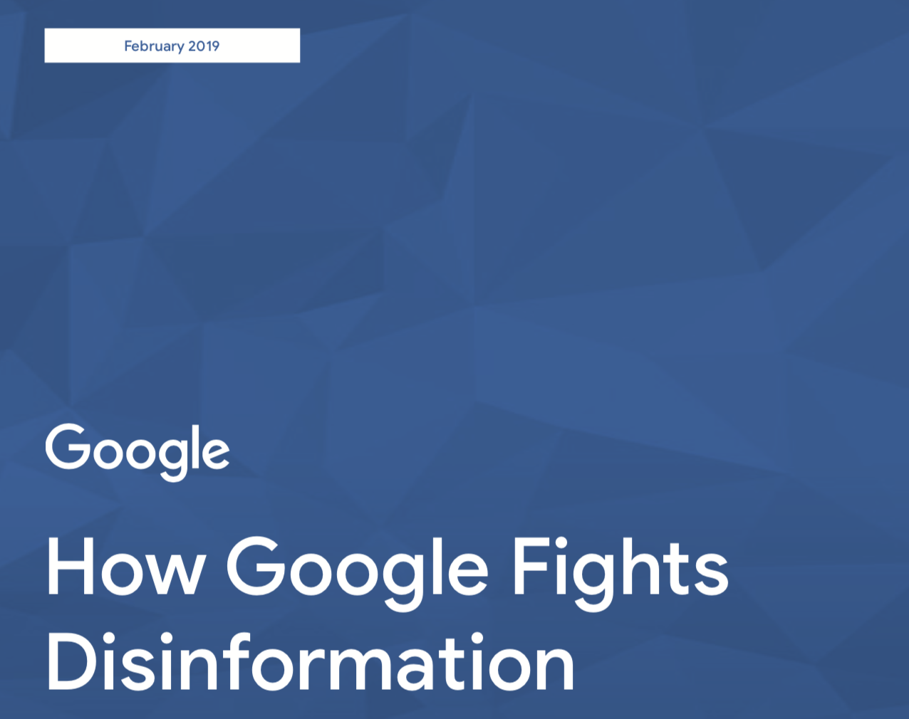 Fighting disinformation across our products