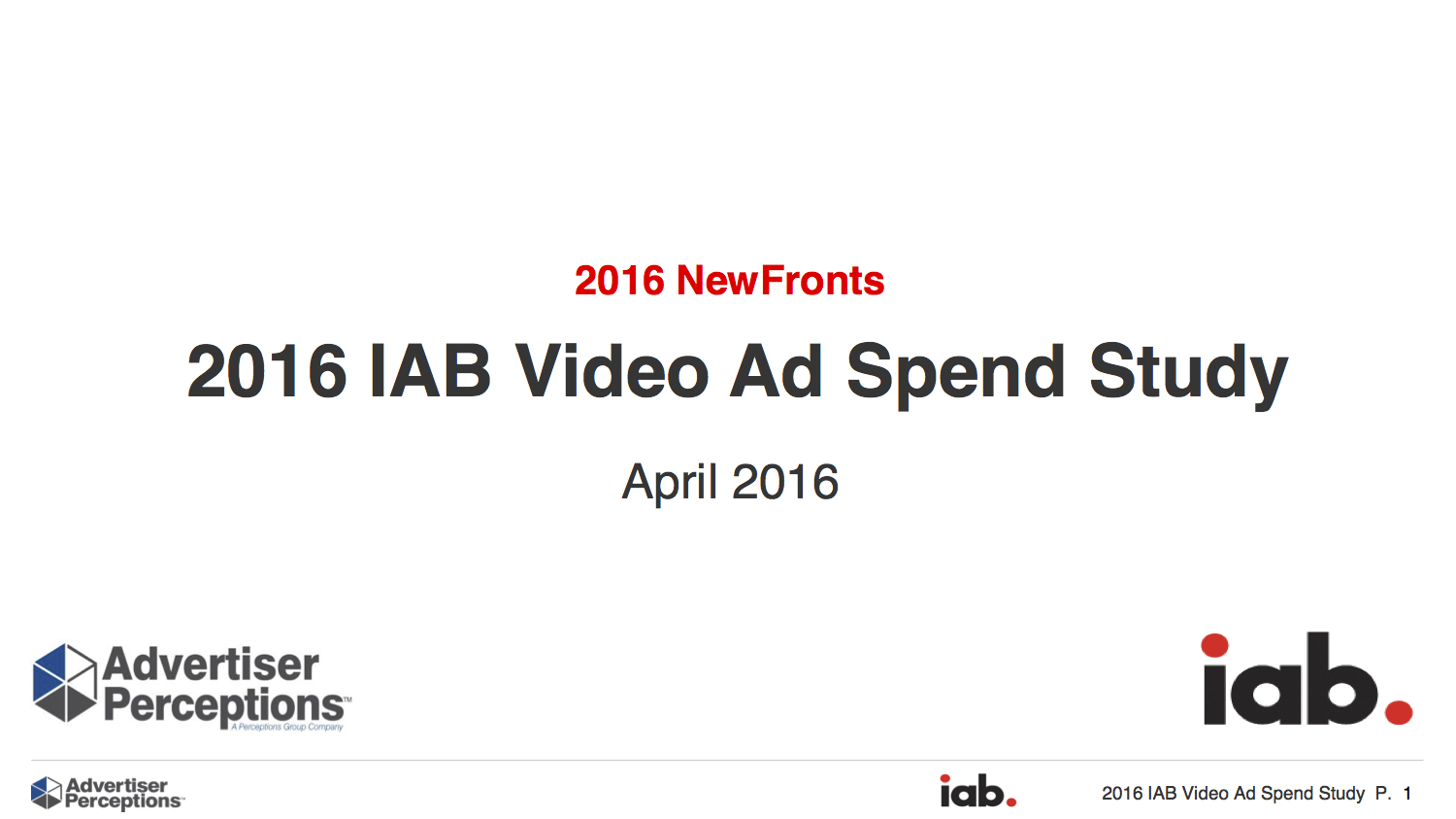 2016 IAB Video Ad Spend Study