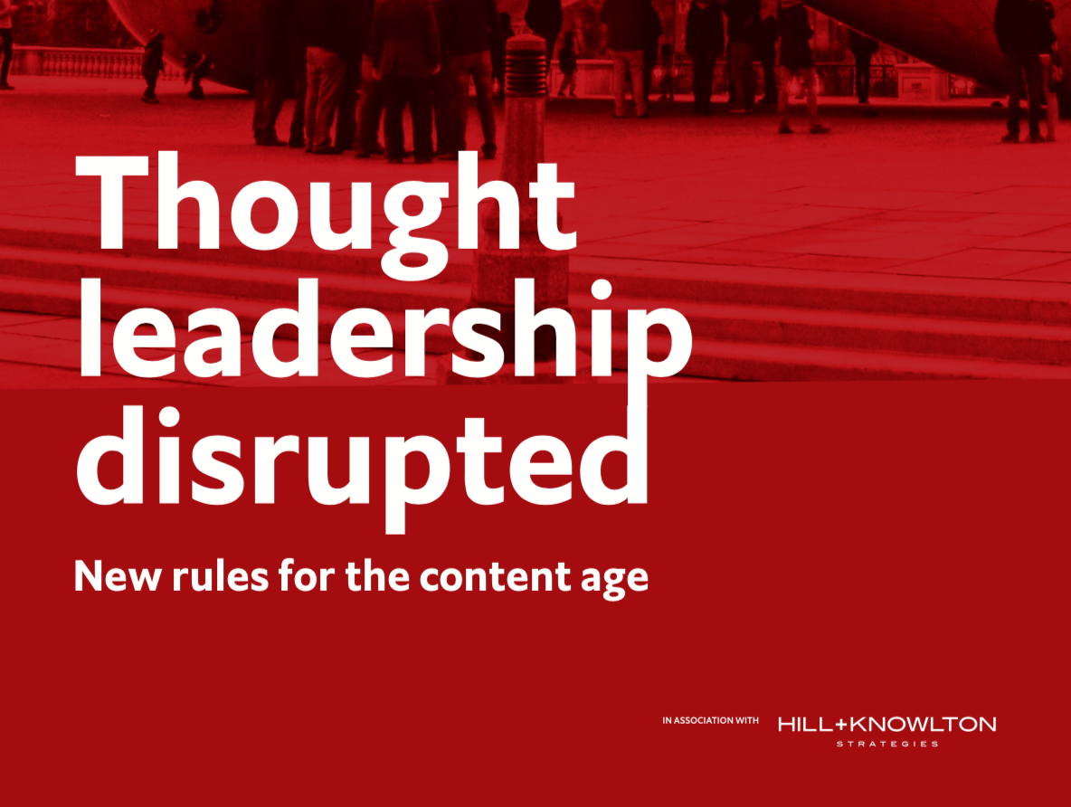 Thought leadership disrupted. New rules for the content age.