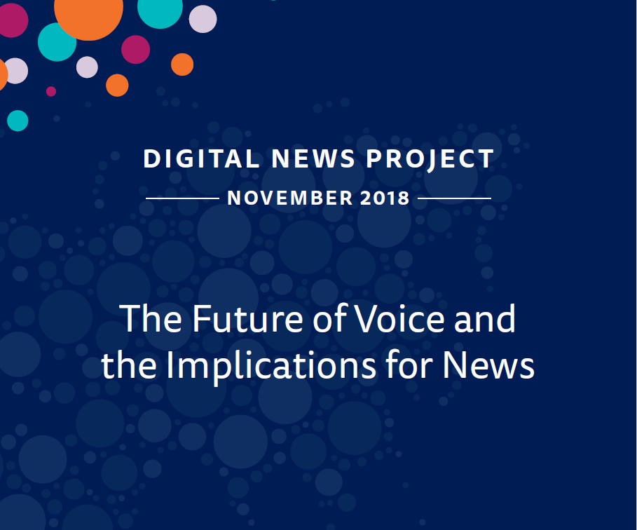 The Future of Voice and the Implications for News